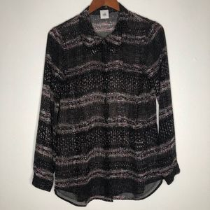 Cabi long sleeve button blouse